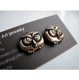 Owl Stud Earrings, Owl Jewelry