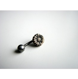 Jewelry Piercing belly body_jewelry belly_button_jewelry bronze_jewelry piercing_jewelry curved_barbell surgical_steel belly_ring naval_piercing belly_button_ring sunflower_jewelry flower blossom floral