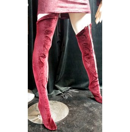 Italiano Couture Zip Thigh High Stockings