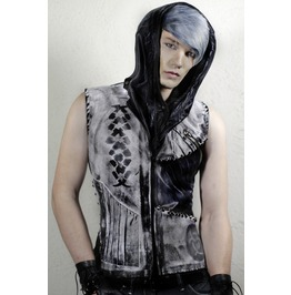 Post Apocalyptic White Motorcycle Jacket Vest Punk Gothic Slim Fit