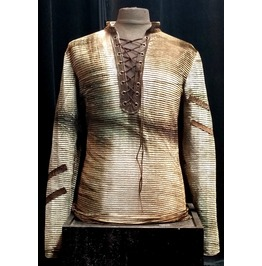 Italiano Couture Forest Metallic Lace Tunic Shirt