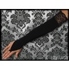 Pair long black gothic wedding gloves burlesque gloves 2