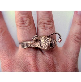 Angler Fish Knuckle Duster Ring