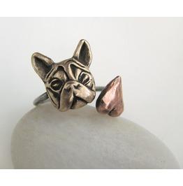 French Bulldog Love Ring