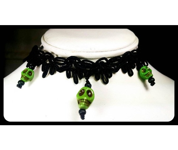 sugar_skull_lime_green_howlite_day_of_the_dead_black_lace_choker_necklace_necklaces_3.jpg