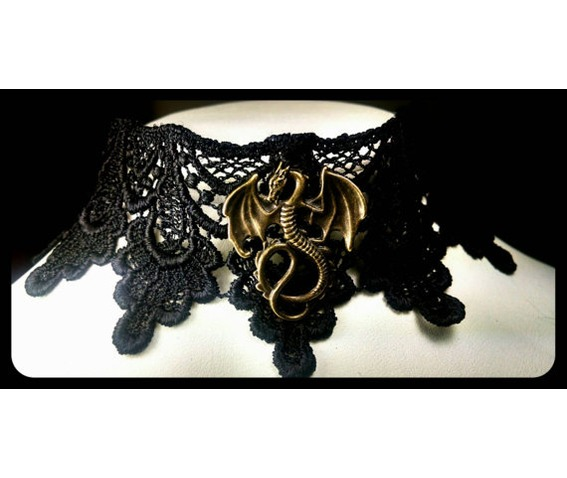 handmade_antique_bronze_mother_dragons_black_lace_choker_necklace_necklaces_5.jpg