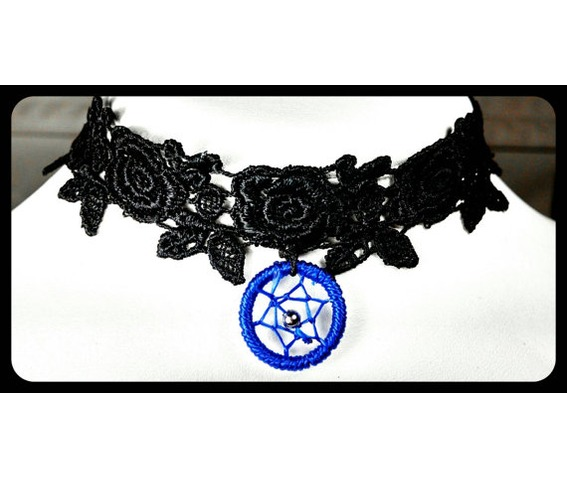handmade_blue_dreamcatcher_rose_black_lace_choker_necklace_necklaces_5.jpg