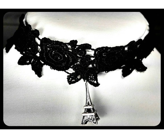 antique_silver_eiffel_tower_black_lace_choker_handmade_necklace_necklaces_4.jpg