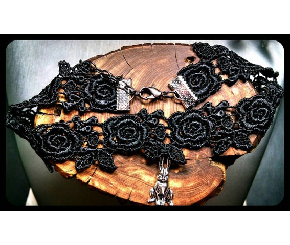 handmade_antique_silver_white_rabbit_rose_black_lace_choker_necklace_necklaces_4.jpg