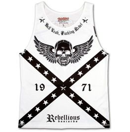 Rebellious bastards hell yeah fucking rebel mens vest biker outlaw clothing tank tops