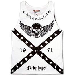 Rebellious bastards hell yeah fucking rebel mens vest biker outlaw clothing tank tops