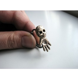 Sideways Skull Skeleton Ring