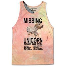 Missing Unicorn Crazy & Unique Women Tank Top Seller Shirt Lady Dress