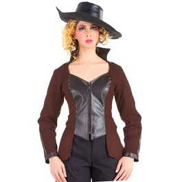 Inspector Honoria Steampunk Victorian Gothic Womens Costume Jacket C1356