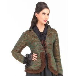 Cheng Sao Brocade Steampunk Womens Costume Jacket C1359