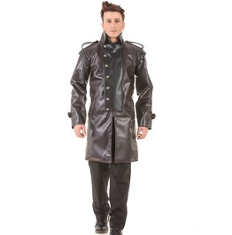 Military Steampunk Victorian Gothic Mens Costume Trench Coat C1369