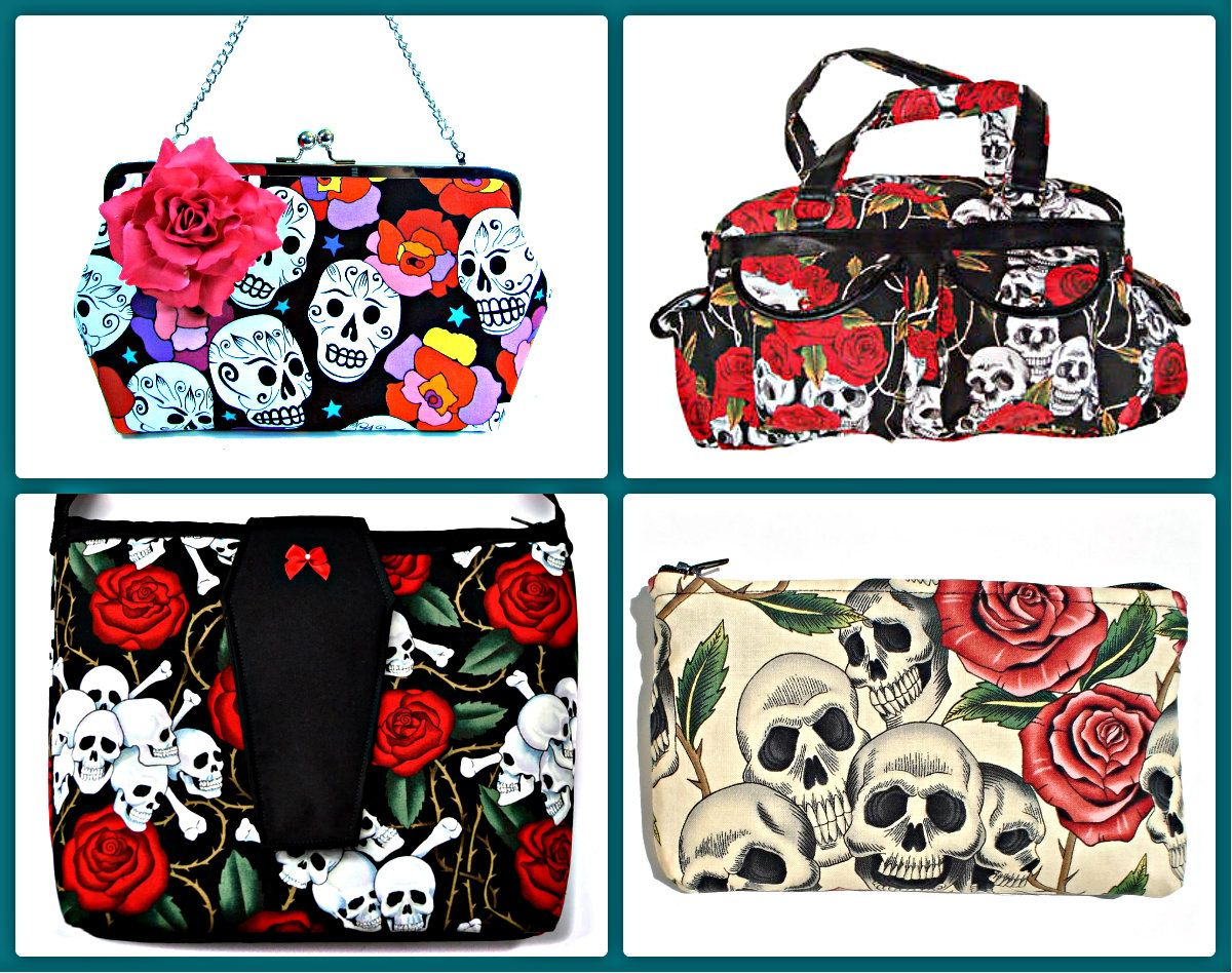 Top 4 Day Of The Dead Skull Bags And Purses Stores At RebelsMarket