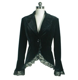 Regular & Plus Size Gothic Lace Corset Velvet Jacket 36164 Cs