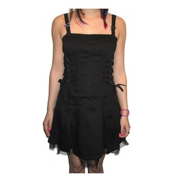 Tripp Nyc Black Corset Lacing Ruffle Dress Discounted Last One M $9 To Ship