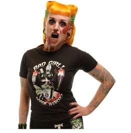 Kreepsville 666 Women's Bad Girl Made Worse Psychobilly T Shirt