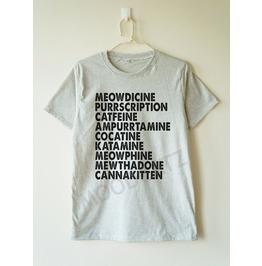 Meowdicine Shirt Funny Cat Tshirt Meow Tshirt Tee Women Shirt Tee Men Shirt