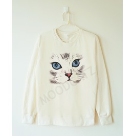 Cute Cat Shirt Cat Eyes Shirt Meow Shirt Funny Animal Shirt Chic Shirt Sweatshirt Jumber Sweater Long Sleeve Shirt Women Tshirt Men Tshirt