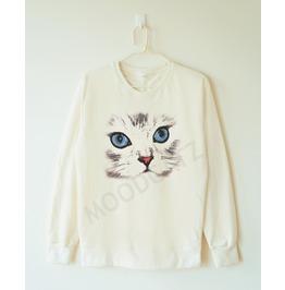 Cute Cat Shirt Cat Eyes Shirt Meow Shirt Funny Animal Shirt Chic Shirt Sweatshirt Jumber Sweater Long Sleeve Shirt Women Tshirt Men Tshirt