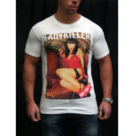 Guilty Men's Lady Killer White T Shirt