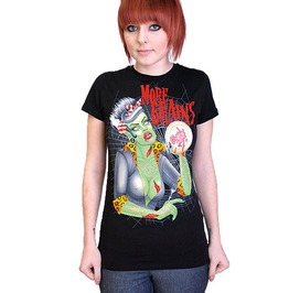 Darkside Clothing Women's Eat Brains Zombie T Shirt