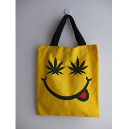 Happy Face Smiley Sunny Day Canvas Tote Bag