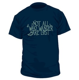 Not All Who Wander T Shirt Mens V Neck