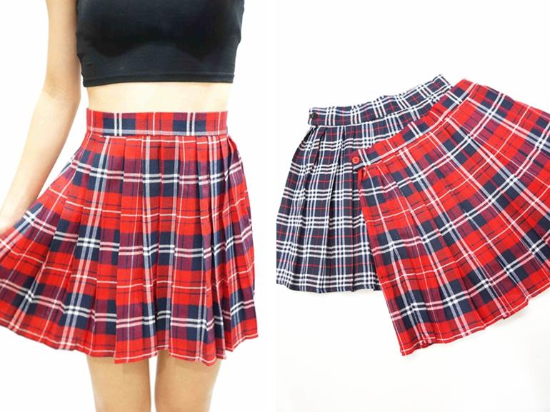 Plaid Red Skirt 72
