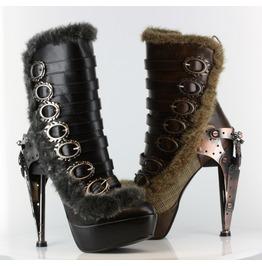 Hades Shoes Women's Polaro Steampunk Buckle Booties