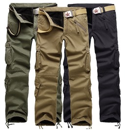 Khaki/Army Green/Black Cargo Pants For Men