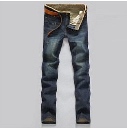 Men's Slim Fit Distressed Blue Jeans
