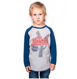 Toxico Clothing Little Rascals Kids Sleeve Baseball Shirt Blue And Red