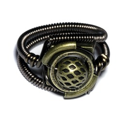 Steampunk Jewelry Ring Bronze
