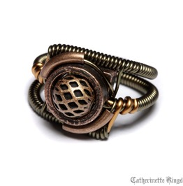 Steampunk Jewelry Ring Copper