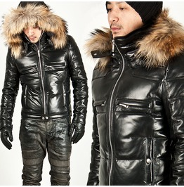 Badass Hooded Leather Parka Leather 02