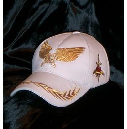 American Eagle Baseball Cap White Glam Rock Urban Wear