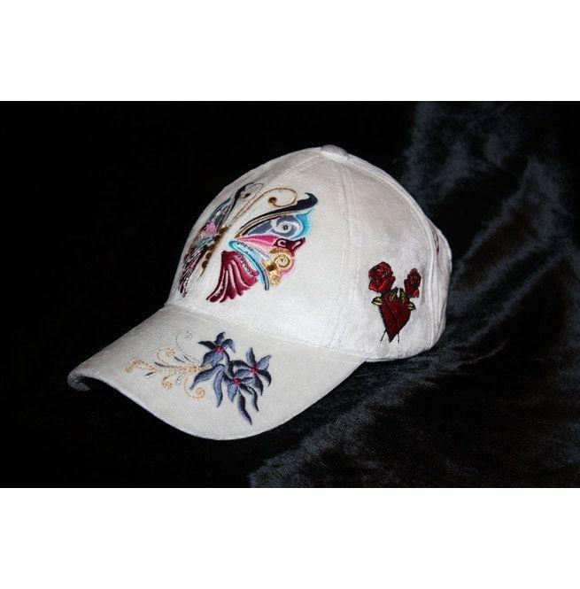 Unique Women Baseball Cap Butterfly Glam Rock Clothing  0c6234177ef