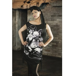 Vixxsin Clothing Women's Betty Bettie Page Vest Top Dress