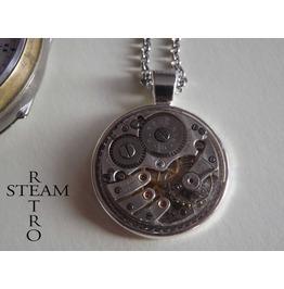 Grand Prix Steampunk Necklace Steampunk Jewellery Watch Movement