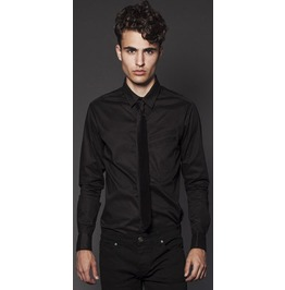 Lip Service Black Classic Button Dress Shirt Size One In 2 Xl Discounted!