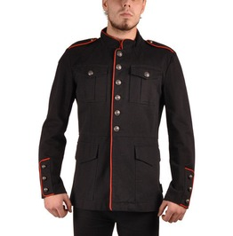 Tripp Black Military Jacket Epaulets Red Piping Size Xl $9 To Ship