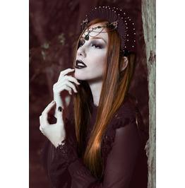 Forest Dew Emerald Teardrop Tiara Circlet Fantasy Medieval Accessories