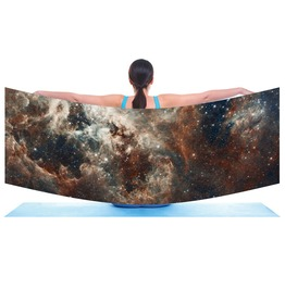 Tarantula Nebula, Galaxy Scarf / Shawl / Sarong Digitally Printed
