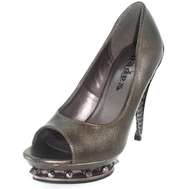 Hades Shoes Women's Ripley Pewter Steampunk Heels