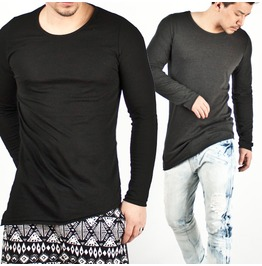 Special Price Asymmetric Simple Slim Tee 19 (Black)