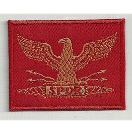 Roman Eagle Embroidered Patch, 1,6 X 2,4 Inch